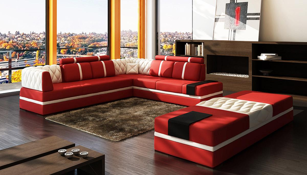 Superb Divani Casa 5013 Modern Bonded Leather Sectional Sofa Gamerscity Chair Design For Home Gamerscityorg
