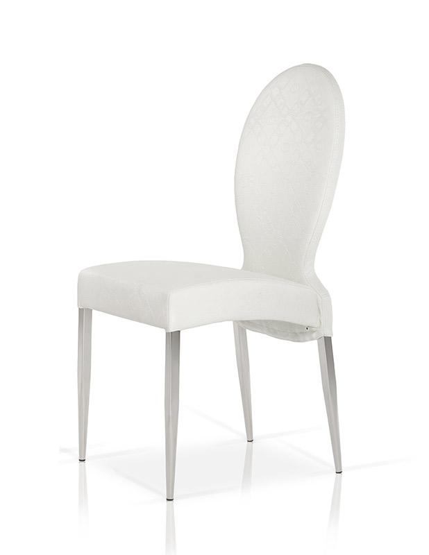 Modrest Y107 Modern Pattern Sched White Leatherette Dining Chair Furniture In La