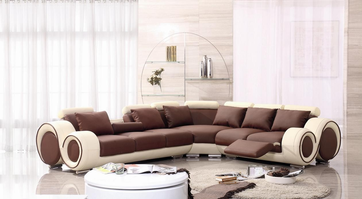 Terrific Modern Franco Bonded Leather Sectional Sofa Ocoug Best Dining Table And Chair Ideas Images Ocougorg
