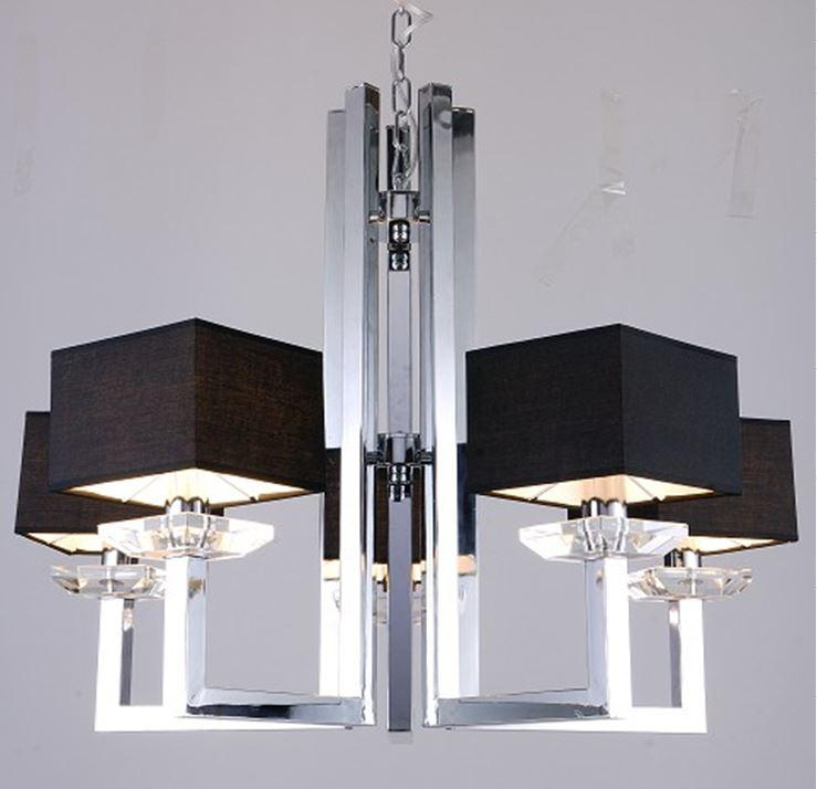Modrest kr003p 5 modern chrome and black chandelier lamp buy modrest kr003p 5 modern chrome and black chandelier lamp buy furniture in la aloadofball Image collections
