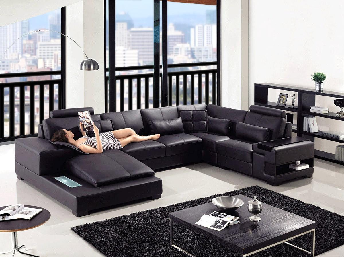 with modern of photos dobson sectional couch recliner shaped leather l shocking black sofa prettyck inspirations size large pieces ambercombe clearance com semi