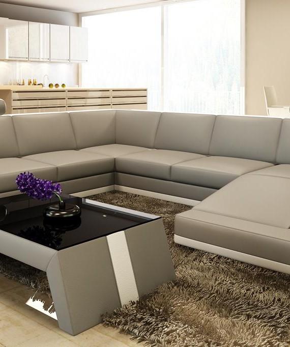 Divani Casa 5100 Modern Bonded Leather Sectional Sofa - Buy Furniture In LA : modern bonded leather sectional sofa - Sectionals, Sofas & Couches