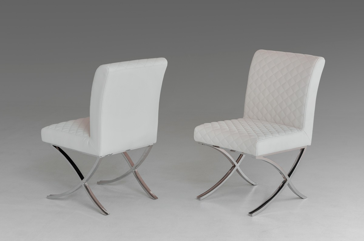 Modrest Adderley Modern White Leatherette Dining Chair Furniture In La