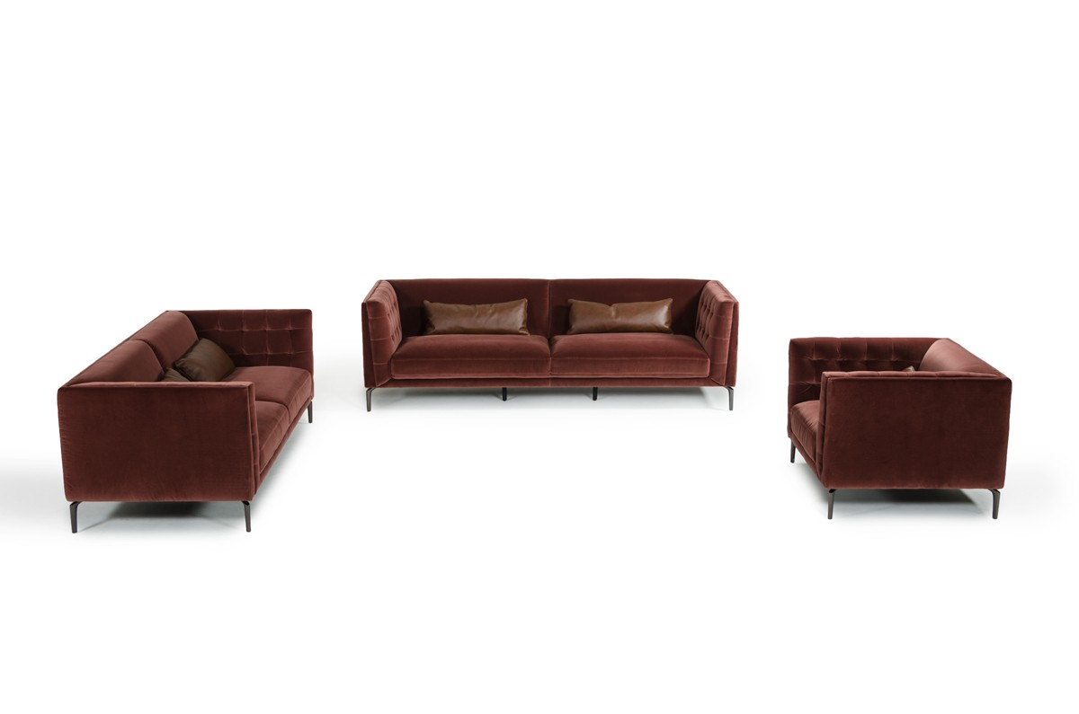 Divani Casa Ansted Modern Fabric Sofa Set Buy Furniture  : ex01373589anstedbrown p82108 24 2017lr01 from buyfurnitureinla.com size 1200 x 795 jpeg 50kB